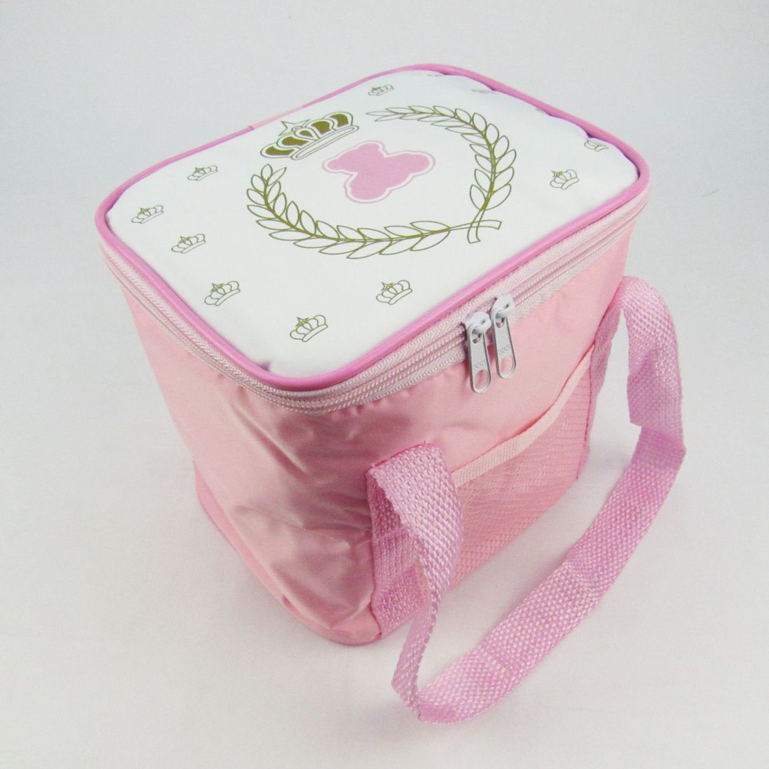 Bolsa Dourada De Bebe : Bolsa t?rmica feminina para beb? estampada coroa dourada