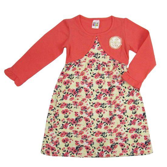 Vestido-Floral-Creme-Salmao-SK-6580a