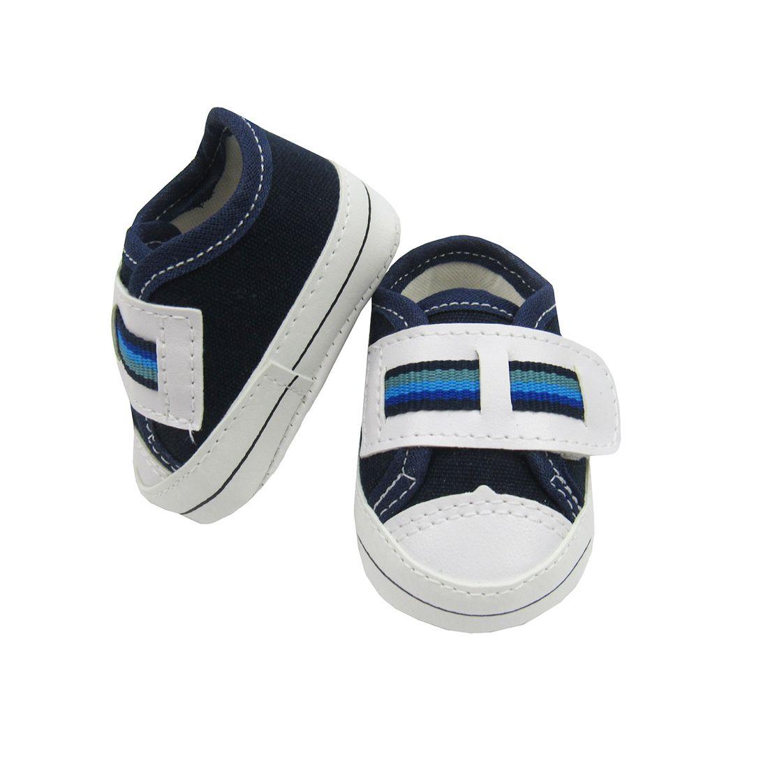 T Nis Beb Masculino Azul Marinho Com Velcro Poetique ~ Quarto Bebe Masculino Azul Marinho