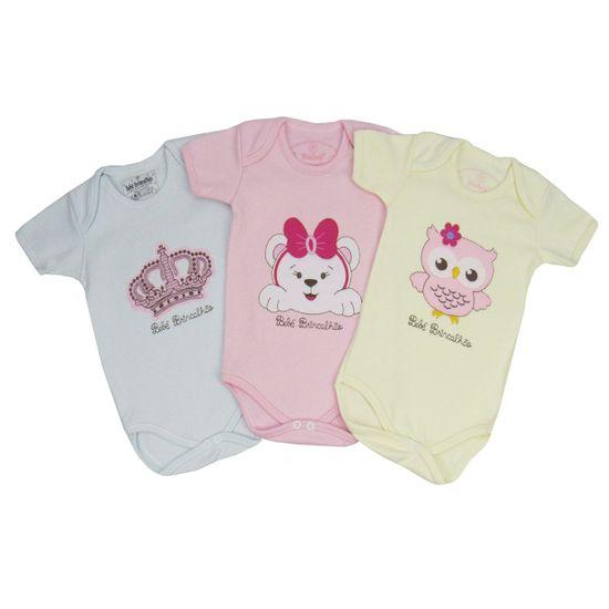 Kit-Body-Feminino-MangaCurta-Coroa-Ursa-Coruja-BB-035a