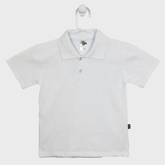 Camiseta Infantil Masculina Manga Curta Gola Polo Branca - poetique c8d5bb7861302