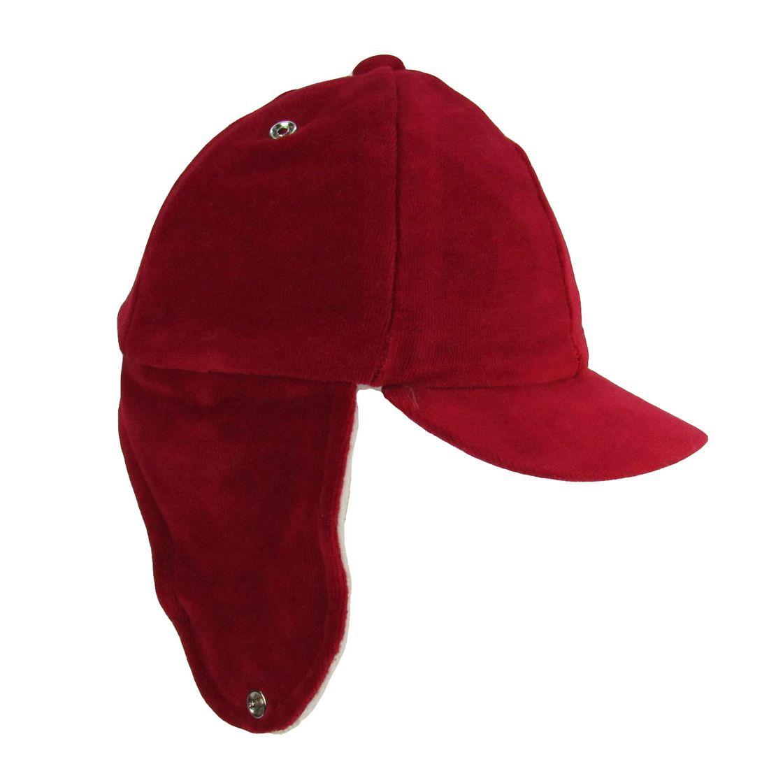 e40e9a0b45599 Boné Bebê Masculino Plush Vermelho e Branco - poetique