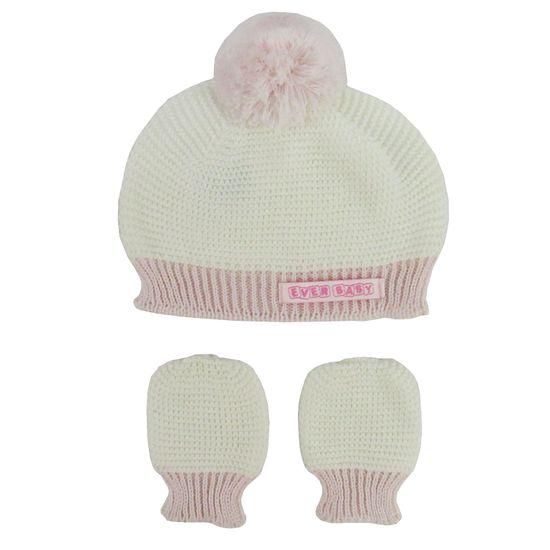 Touca-Luva-Rosa-Creme-E-8091a EVERLY Kit Bebê Feminino Touca ... 4ee34fa55f3