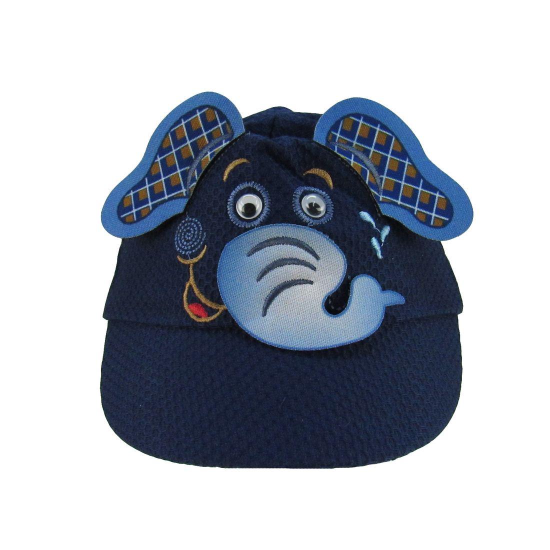 Boné Bebê Masculino Azul Marinho Elefante - poetique 3e92a33414b