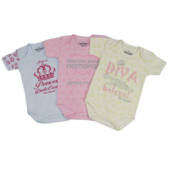 Kit-Body-Bebe-Feminino-MangaCurta-Princesa-30-Diva-BB-039a