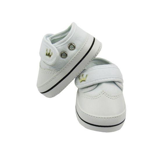 Tenis-Bebe-Masculino-Branco-Bordado-Coroa-Velcro-MB-99011ba