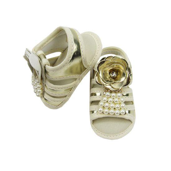 Sandalia-Bebe-Feminino-Creme-Dourado-Perolas-Velcro-MB-201063a