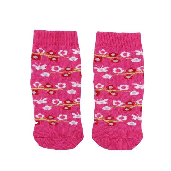 Meia-Feminina-Pink-Flores-W-300.21.12ca