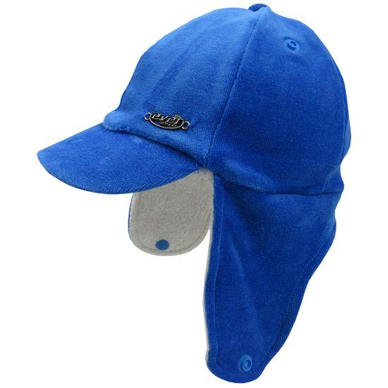 Bone-Bebe-Masculino-com-Protecao-de-Orelha-em-Plush-Azul--Royal-E-6075ba