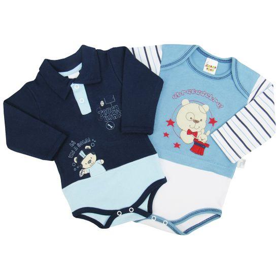 Body-Bebe-Masculino-Manga-Longa-Azul-Jeans-Azul-Marinho-Kit-com-2-Unidades-PP9488ca