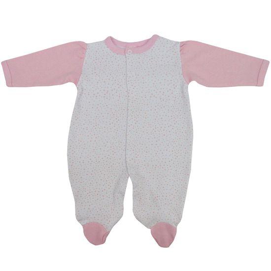 Macacao-Bebe-Feminino-Manga-Longa-Branco-com-Poas-Rosa-PP-113aa