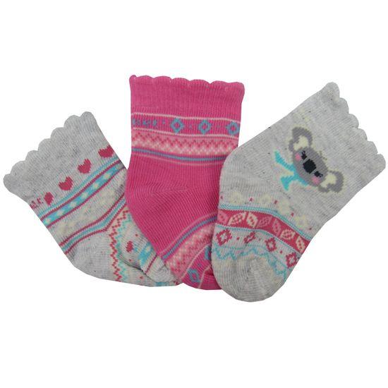 Meia-Puket-Feminina-Bebe-Mescla-Pink-kit-com-3-Unidades-P-010101052a
