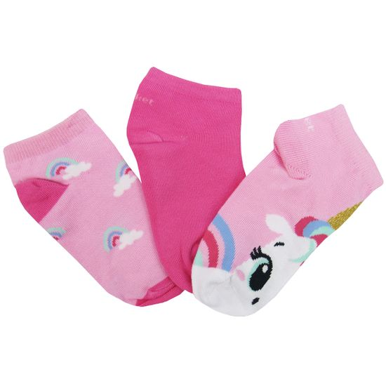 Meia-Puket-Feminina-Rosa-Pink-Esrampada-Pink-Lisa-Kit-com-3-Unidades-P-010401896a