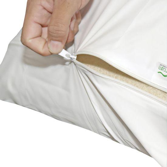 Protetor-para-Travesseiro-com-Ziper-Siliconizado-Branco-SC-13922a