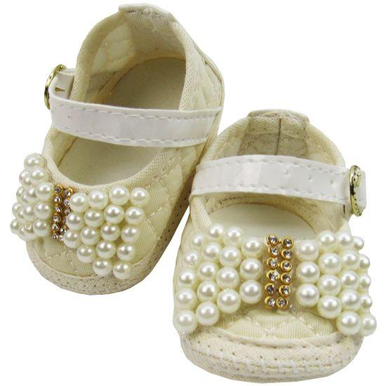 Sapato-Bebe-Feminino-Creme-com-Perolas-MB-99071a