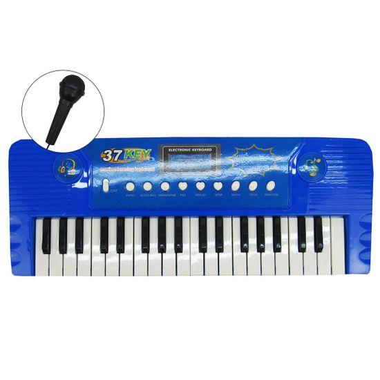Teclado-Eletronico-Musical-Microfone-Vermelho-BBR-2734ca