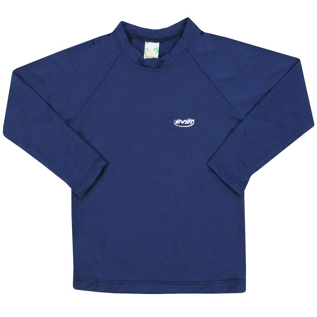 Camiseta Infantil Manga Longa Masculina Azul Marinho com Proteção ... 0804612d7d3