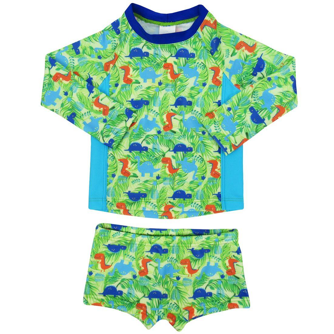 12ec47786 Camiseta Bebê Masculina Manga Longa com Sunga Boxer Proteção ...