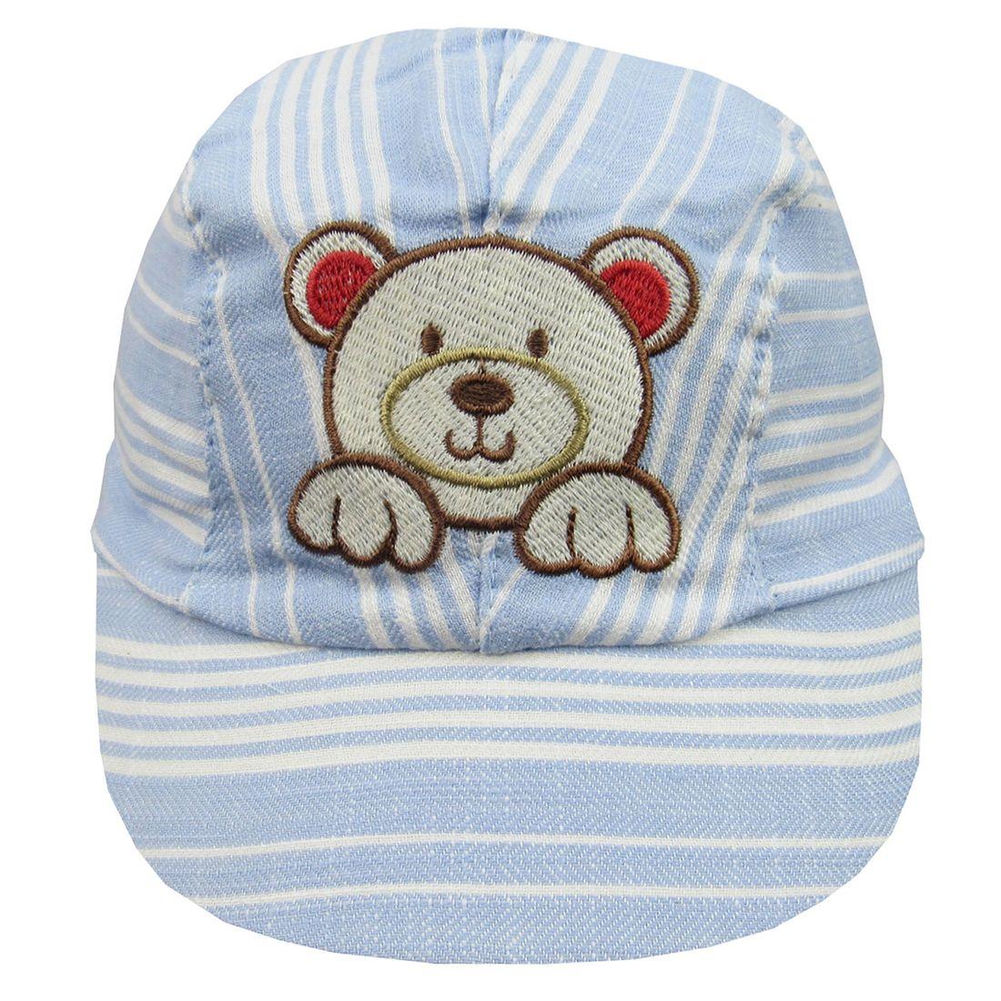 poetique · ACESSÓRIOS · bonés e chapéus. Bone-Bebe-Masculina-Listrado-Azul-E-  ... 00b1c91ea23