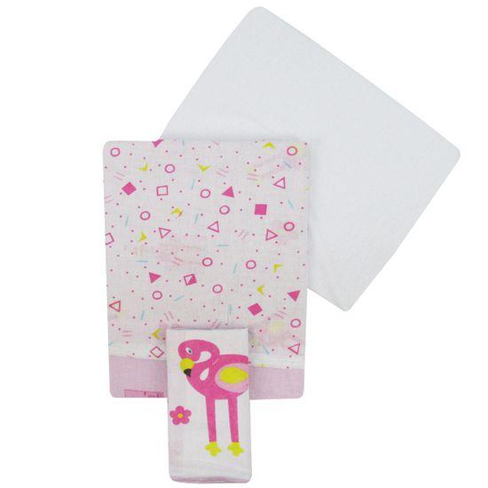 Jogo-de-Lencol-para-Berco-Americano-Feminino-Flamingo-I-02001204010014aa