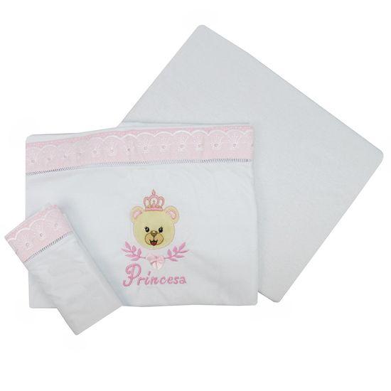 Lencol-para-berco-Americano-Urso-Coroa-Rosa-BB-292ba