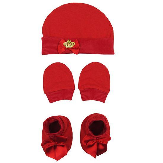Kit-Bebe-Unissex-Touca-Luvas-Sapatinho-em-Malha-Vermelho-Coroa-MB-312001ea