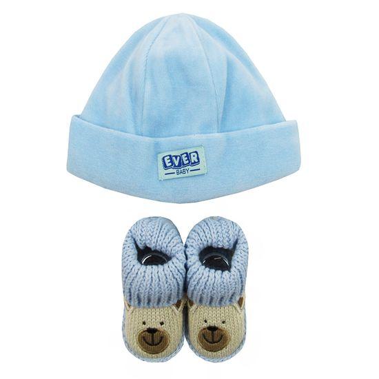 Kit-Bebe-Masculino-Touca-Sapatinho-Azul-Claro-E-8095a