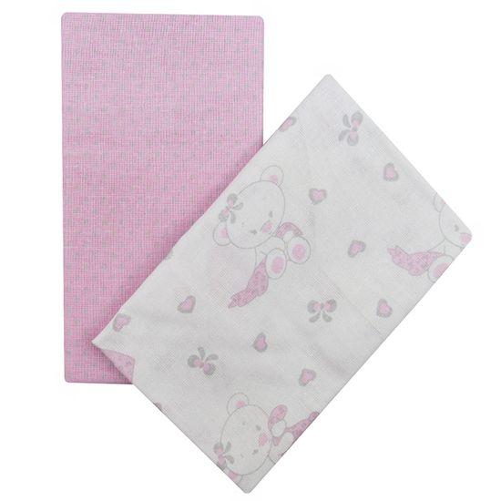 Kit-Fronha-Feminino-Branco-Rosa-com-2-Unidades-Ursinha-I-04051000010003ba