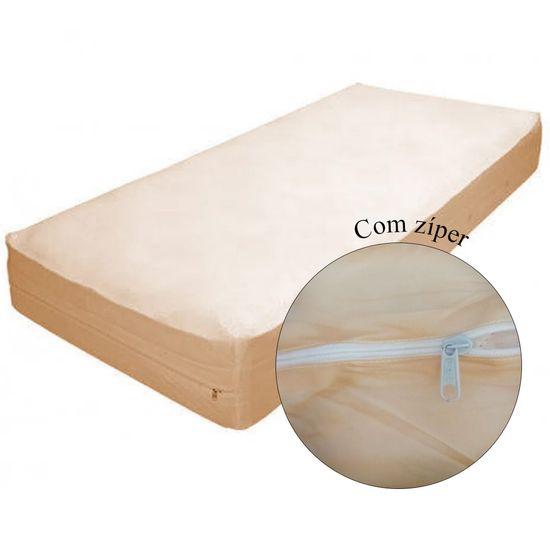 Protetor-para-Colchao-Solteiro-Siliconizado-Bege--com-Ziper-SC-14521a