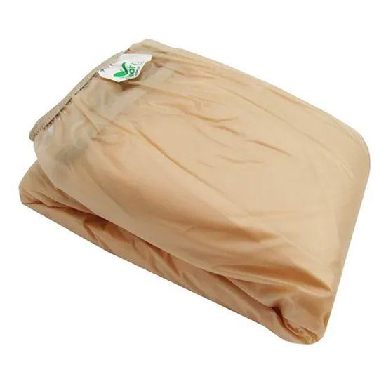Protetor-para-Colchao-Casal-Siliconizado-Luxo-Bege-com-Elastico-SC-13621a