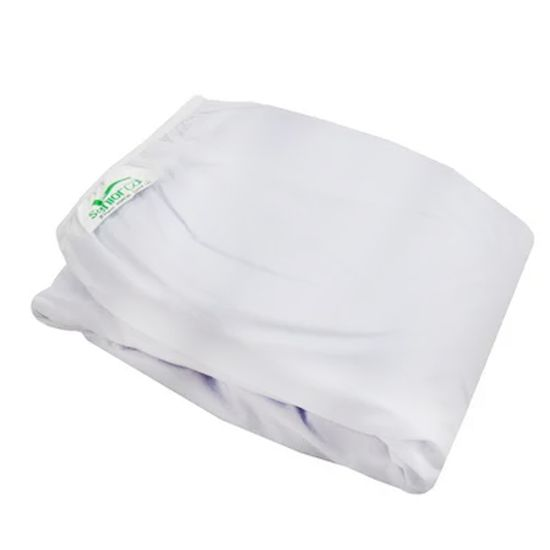 Protetor-para-Colchao-Casal-Siliconizado-Luxo-Branco-com-Elastico-SC-13622a