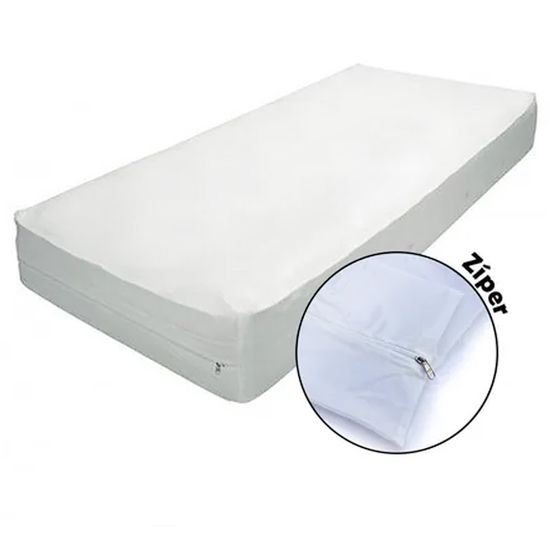 Protetor-para-Colchao-Berco-Americano-Siliconizado-com-Ziper-Branco-SC-16422a
