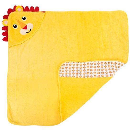 Toalha-com-Capuz-Fisher-Price-Bordada-Leao-Unissex-Amarela